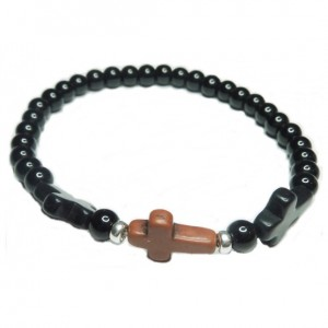 Ball Bracelet for Men with Triple Croos