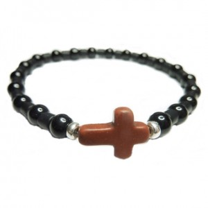 Black Onyx & Hematite Matte Tube Bracelet for Men