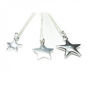 Collection of Sterling Silver Necklaces with Star Charms