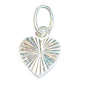Cut Heart Charm for Sterling Silver Ball Ring