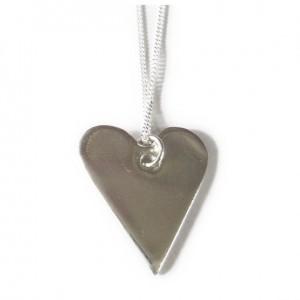 Fine Silver Handmade Heart Pendant