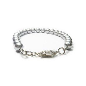 Grey Swarovski Pearl Bridal Bracelet