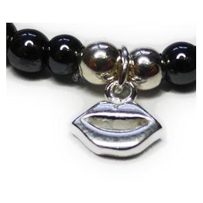 JoJo Bracelet with Lips Charm Closeup