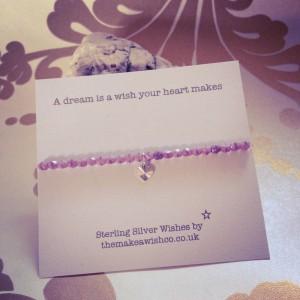 Sterling Silver and Czech Wish Bracelet