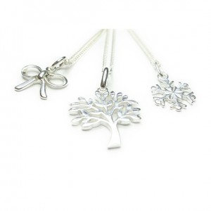 Life Collection of Sterling Silver Charm Necklaces with Choice of Charms
