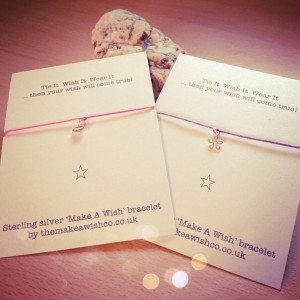 Cotton Cord and Sterling Silver Make A Wish Friendship Bracelets