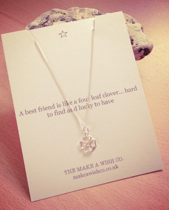 Sterling Silver Make A Wish Clover Necklace