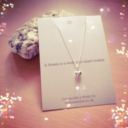 Sterling Silver Make A Wish Heart Necklace