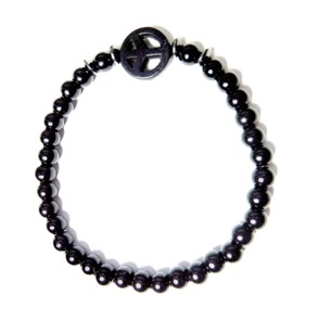 Onyx and Hematite Black Peace