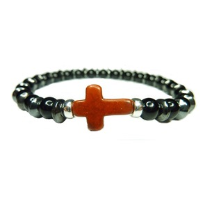 Onyx and Hematite Cross