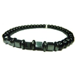 Onyx with Hematite Block & Rondelles for Men