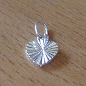 Sterling Silver Cut Heart Charm