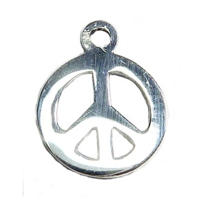 Peace Charm for Sterling Silver Ball Ring