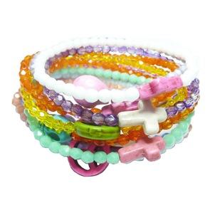 Stack of Beach Bum Bracelets from Jacy & Jools