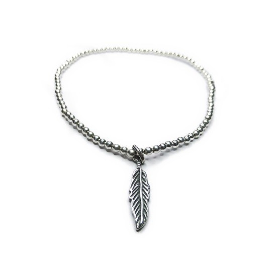 gemstones feather statement and feathers make american anklet a silver pin native