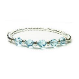 Sterling Silver & Blue Swarovski Pearl Bridal Bracelet