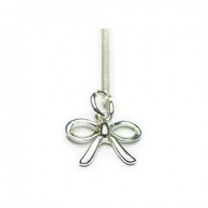Sterling Silver Necklace with Bow Charm