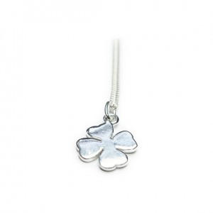 Sterling Silver Necklace with Clover Charm