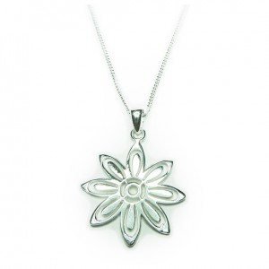 Sterling Silver Necklace with Daisy Charm