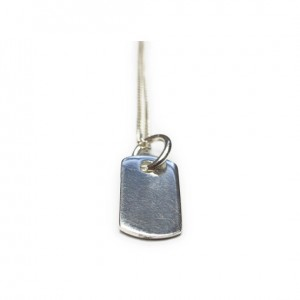Sterling Silver Necklace with Dog Tag Charm
