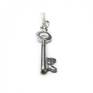 Sterling Silver Necklace with Latch Key Charm