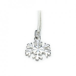 Sterling Silver Necklace with Snowflake Charm