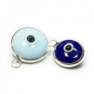 Sterling Silver Necklace with Turkish Glass Evil Eye Charm Comparison
