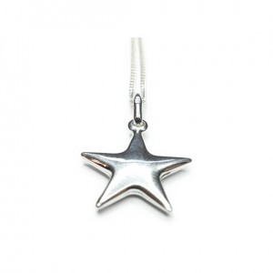 Sterling Silver Necklaces with Puffed Star Charm