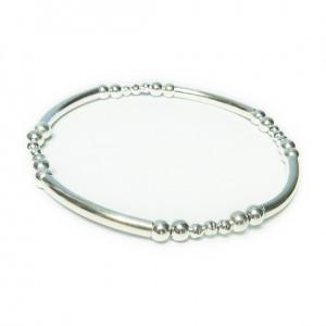 Sterling Silver Noodle & Ball Bracelet