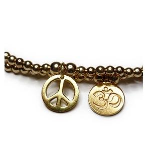 Gold Peace & Ohm Closeup
