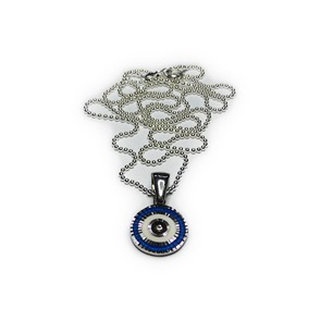 Sterling Silver Evil Eye on Ball Chain