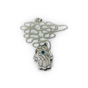 Sterling Silver Khamsa on Ball Chain
