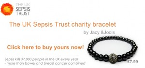 The UK Sepsis Trust Charity Bracelet by Jacy & Jools