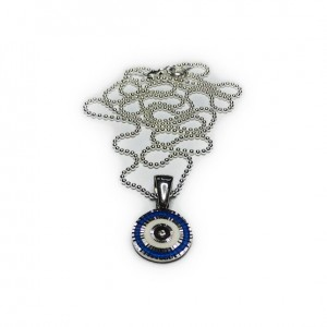Sterling Silver Ball Chain with Evil Eye