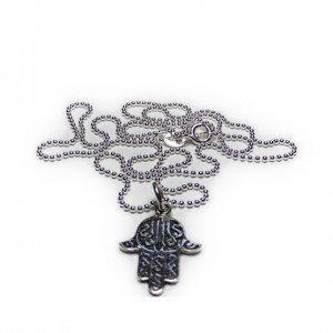 Sterling Silver Ball Chain with Hamsa