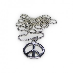 Sterling Silver Ball Chain with Peace