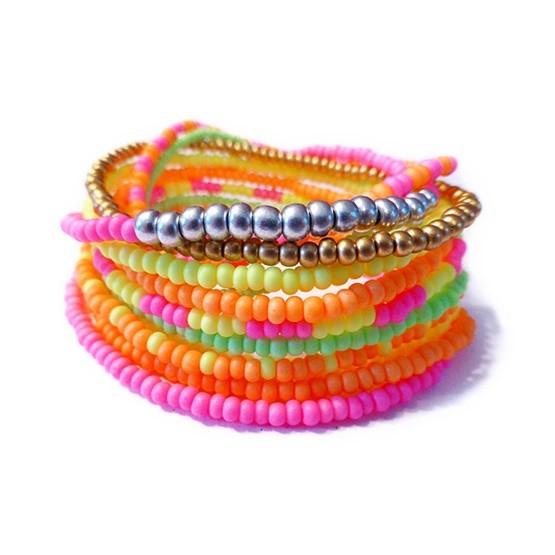 Festival Neon Czech Stacking Friendship Bracelets