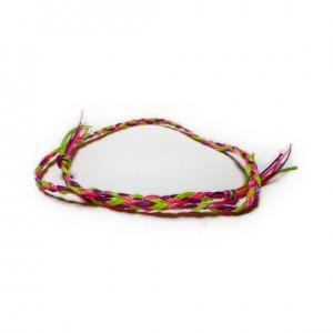 Festival Neon Czech Stacking Plaited Friendship Bracelet