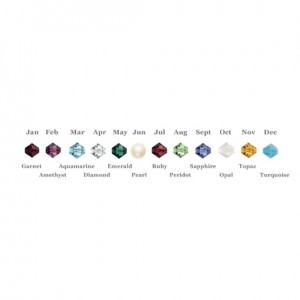 Birthstone Colours for Custom Initial & Birthstone Bracelet