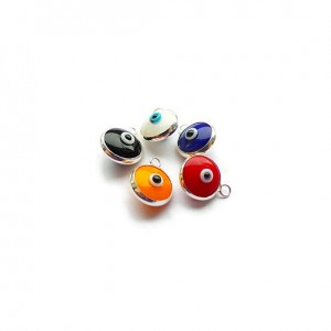 Colour Choices for Sterling Silver Stud Earrings with Evil Eye Charms