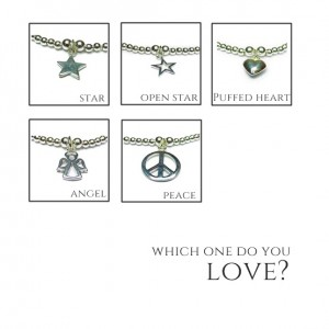 Charm Choices for Skinny Sterling Silver Noodle Bracelets