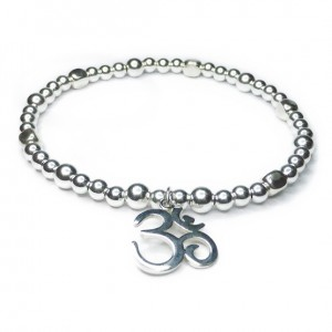 Sterling Silver Cube Bracelet with Ohm