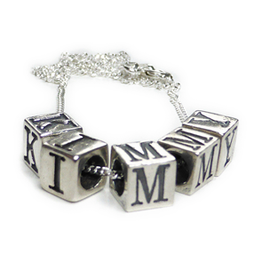 Sterling Silver Cube Kimmy Schmidt Necklace