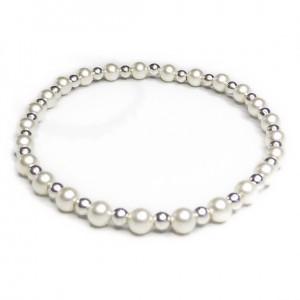 warovski Pearl & Sterling Silver Bridal Bracelet