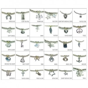 Charm Choices for Sterling Silver Mini Ball Bracelet Stack