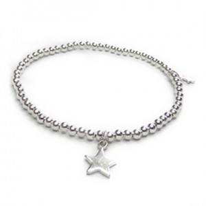 Sterling Silver Twinny Mini Bracelet with Star