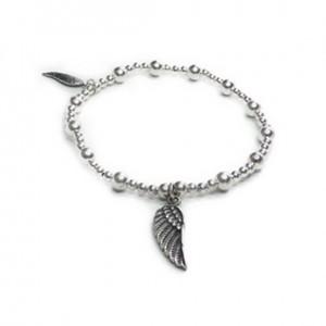 Sterling Silver Twinny Mini Bracelet with Wing