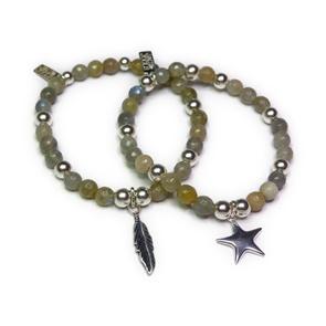Faceted Labradorite & Sterling Silver Bracelets