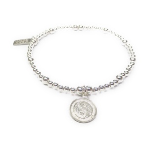 Sterling Silver Bracelet with Yoga Charm