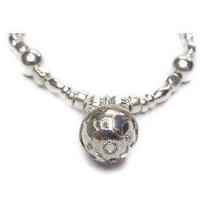 Sterling Silver and Mixed Metal Ball Bracelet with Dreamball Closeup